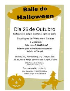 Baile Do Halloween 2013 Flyer