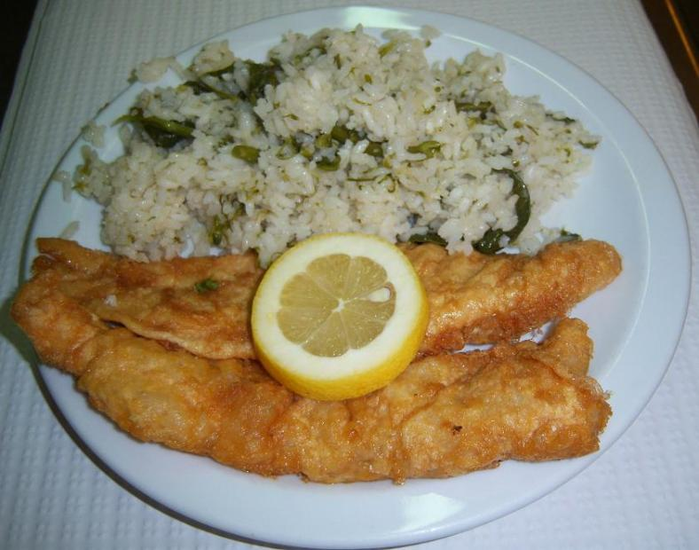 Filetes com Arroz