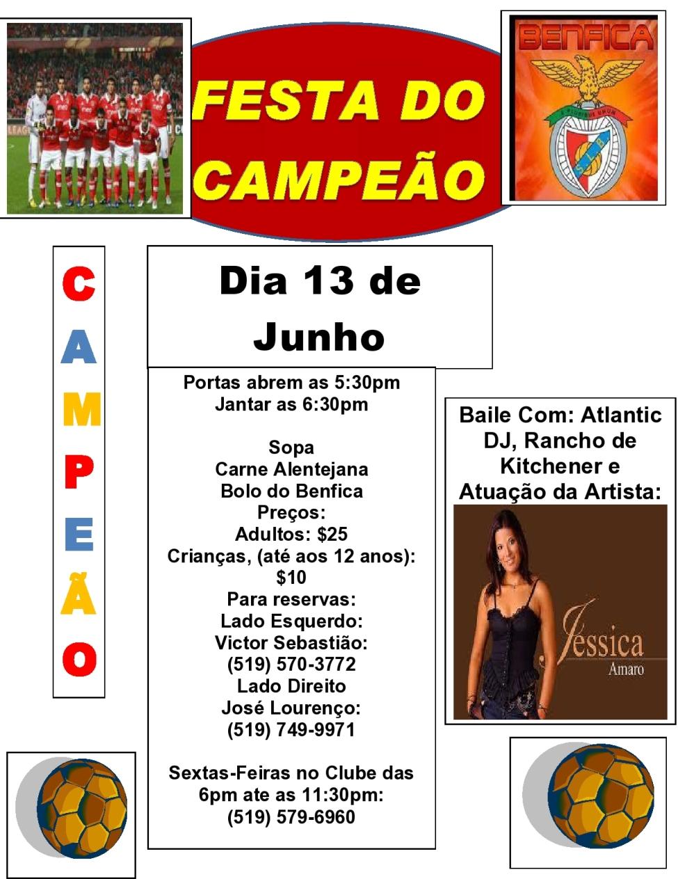 Festa do Campeão - Dia 13 de Junho 2015