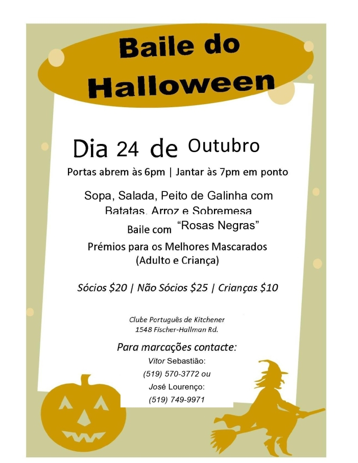 Out. 24 - Baile de Haloween