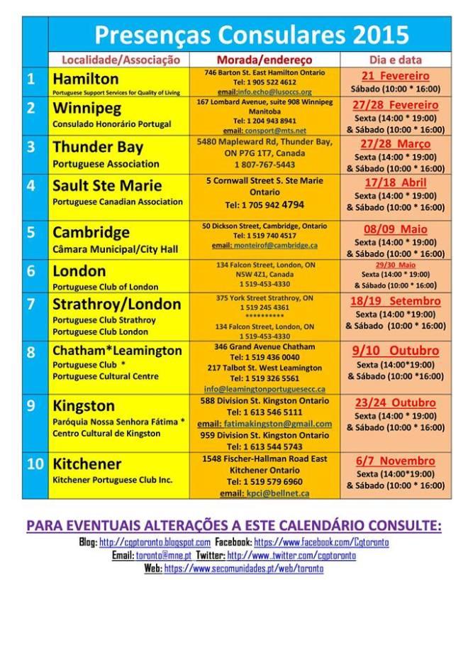 Presenças Consulares 2015