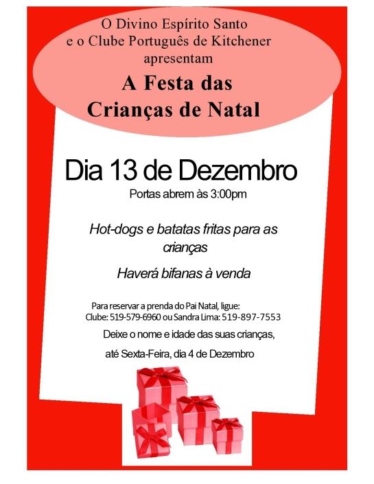 Festa de Natal das Criancas Flyer 2015