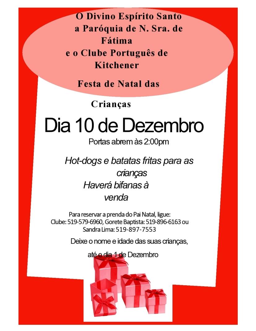 Festa de Natal das Criancas Flyer 2017