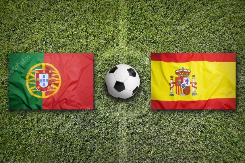 Portugal Spain Flags