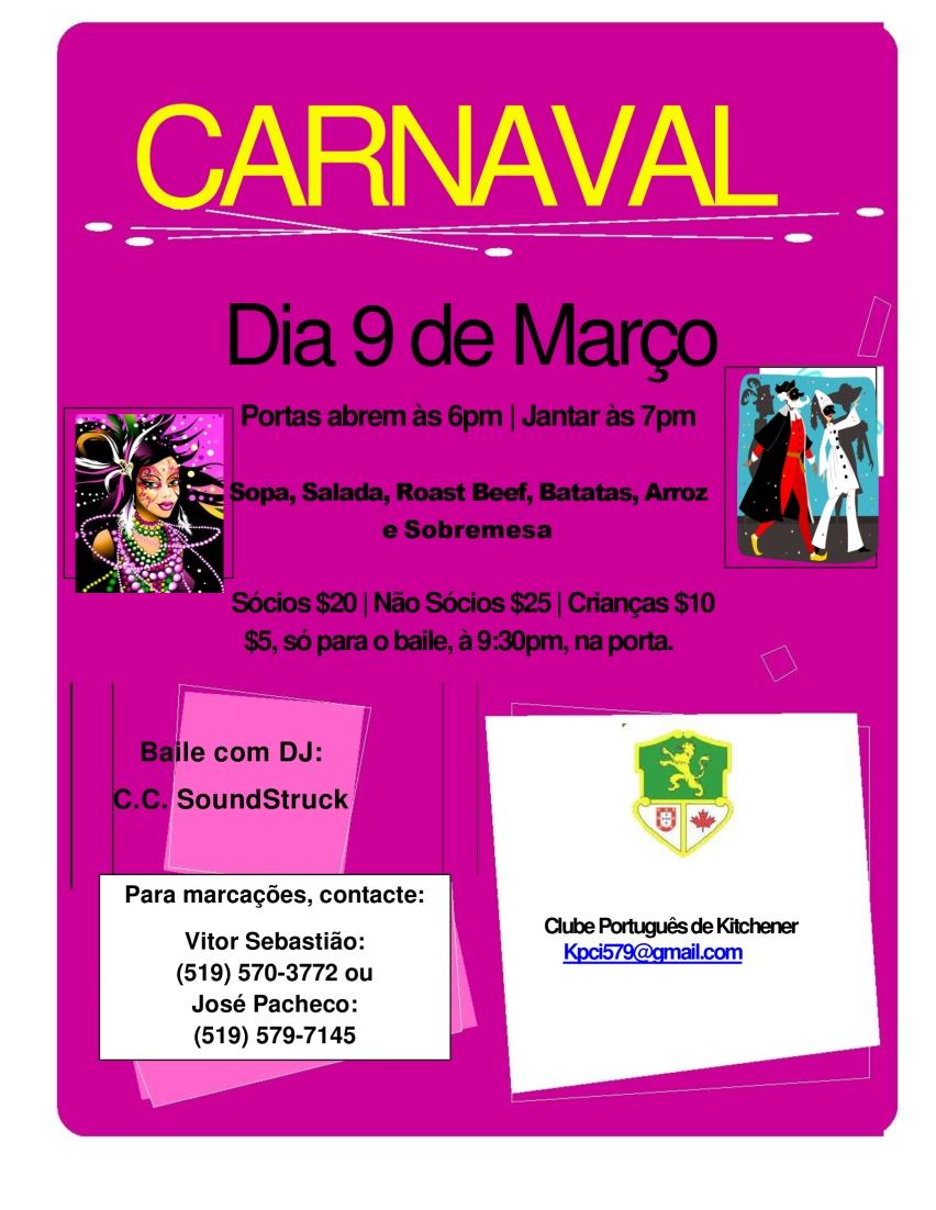 Mar. 9 - Baile de Carnaval