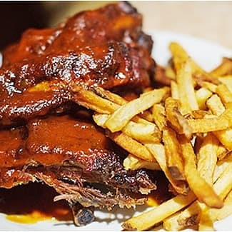 Ribs with French Fries