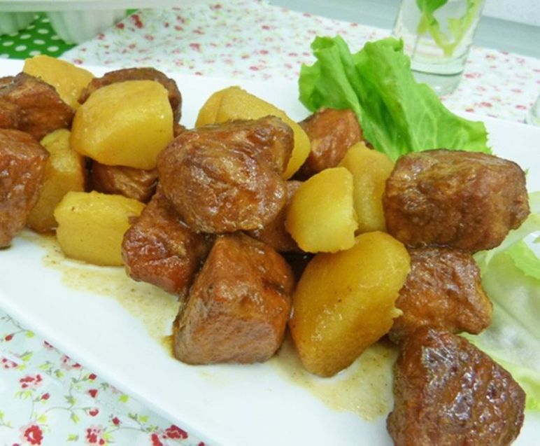 Fried Pork Meat with Roasted Potatoes - July 3rd